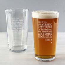 Personalised He is...Pint Glass P010791